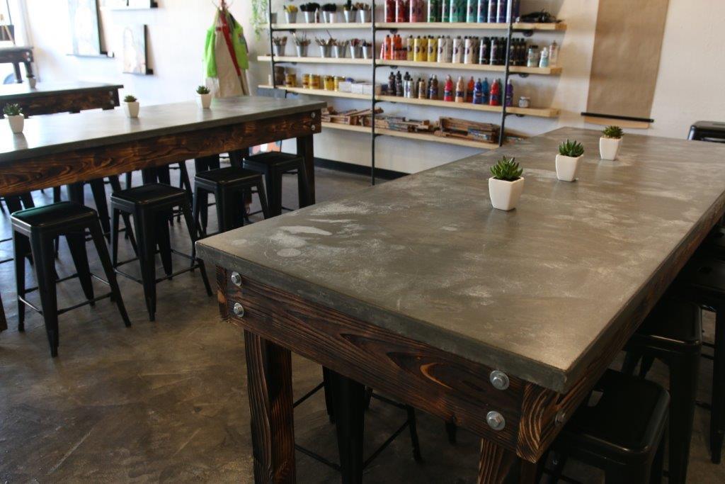 Pre-cast Concrete Table