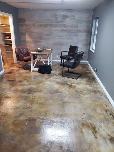 Diluted Coffee Brown Acid Stain on Concrete Overlay