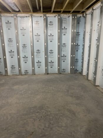 Clean prepared concrete floor staining