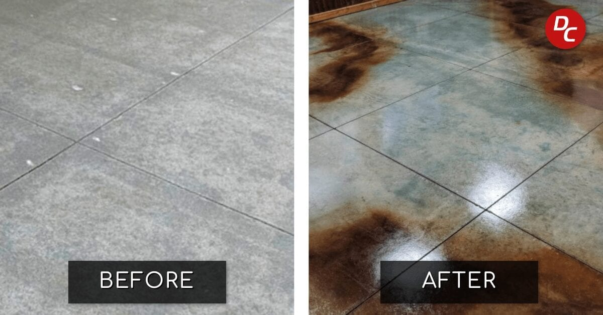How To Make Concrete Acid Stain Look