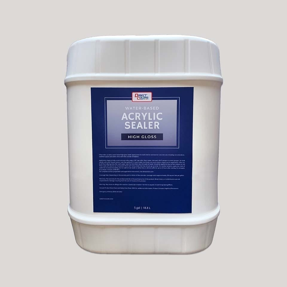 Acrylic Concrete Sealer Water Gloss 5 gal
