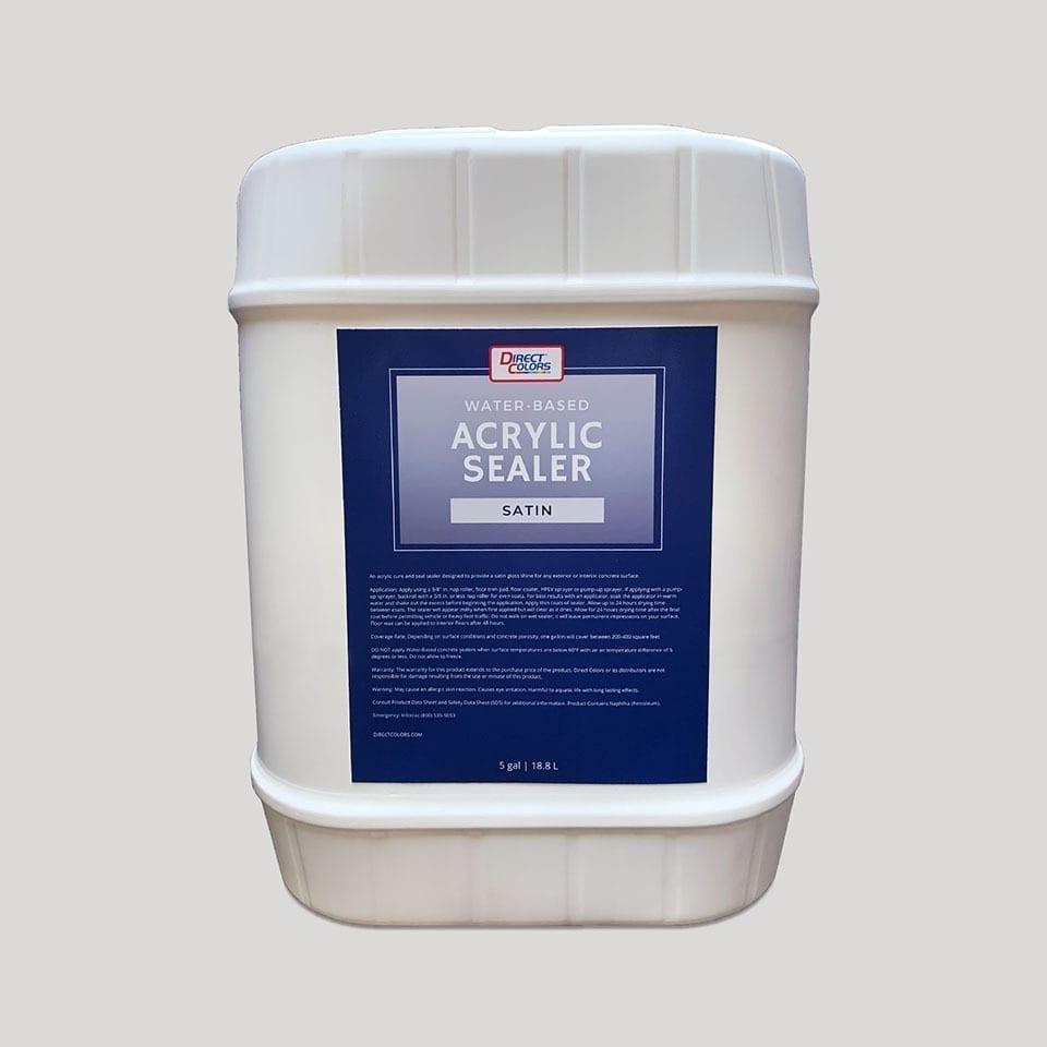 Satin, Water-Based Acrylic Concrete Sealer
