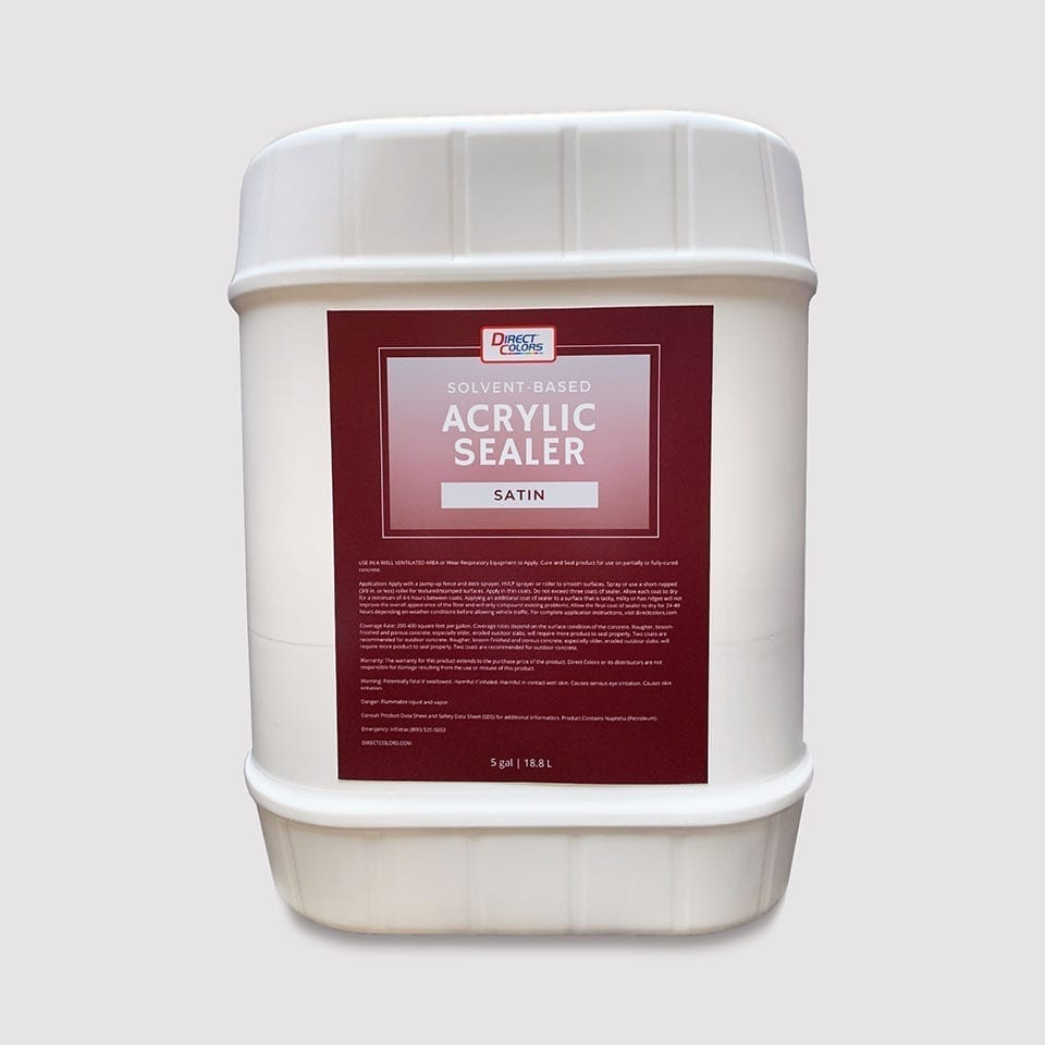 Satin, Solvent-Based Acrylic Concrete Sealer