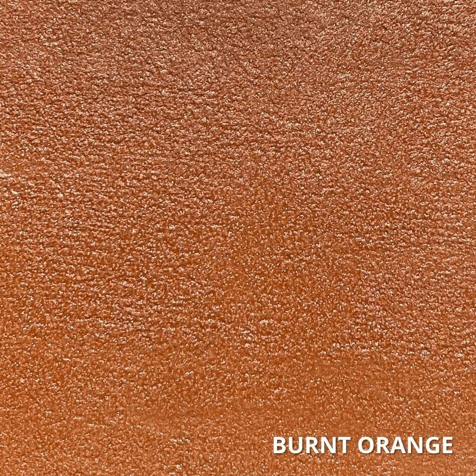 Burnt Orange Concrete Dye Color Swatch