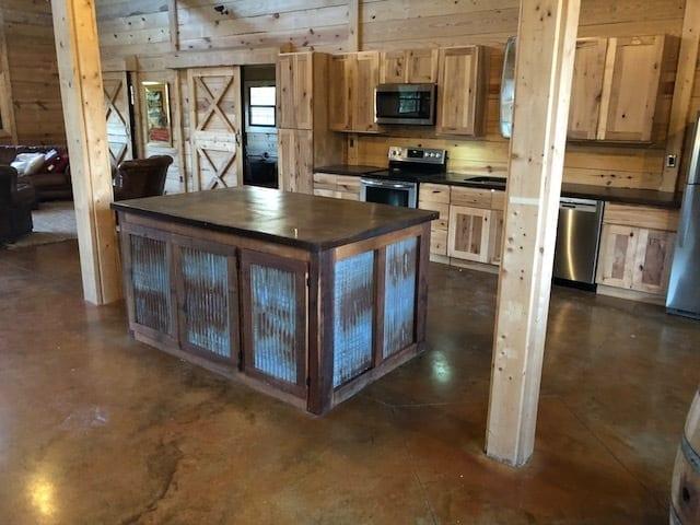 Pole Barn Acid Stained Concrete Floor