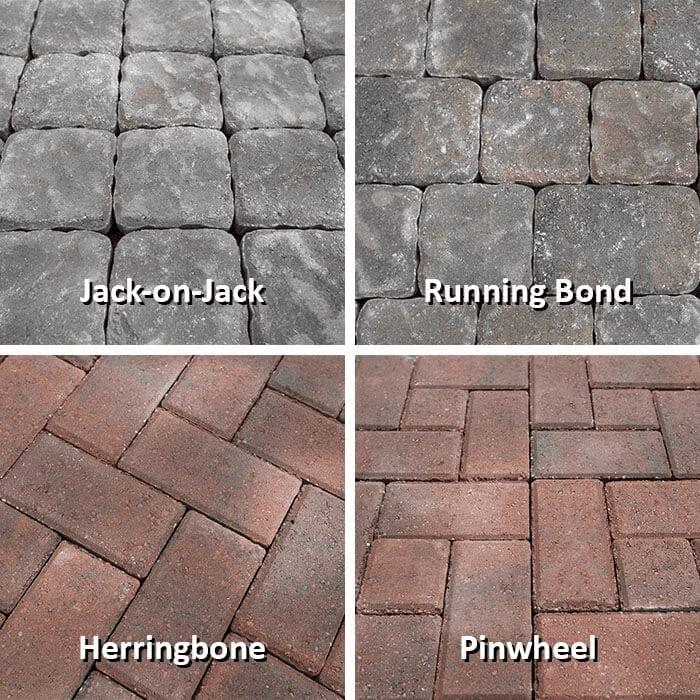 Patio stone design examples