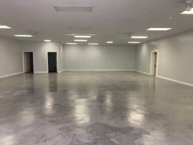After 2nd Coat of Concrete Floor Wax