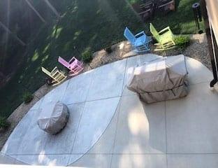 faded concrete patio