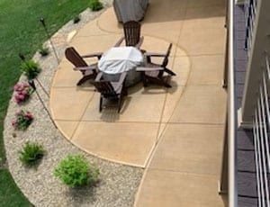 Re-stained Concrete Patio