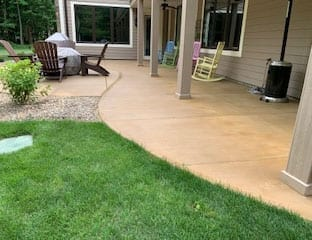 Stained Concrete Patio