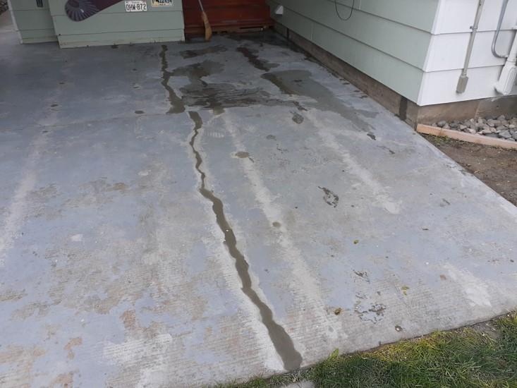 Faded Concrete Driveway