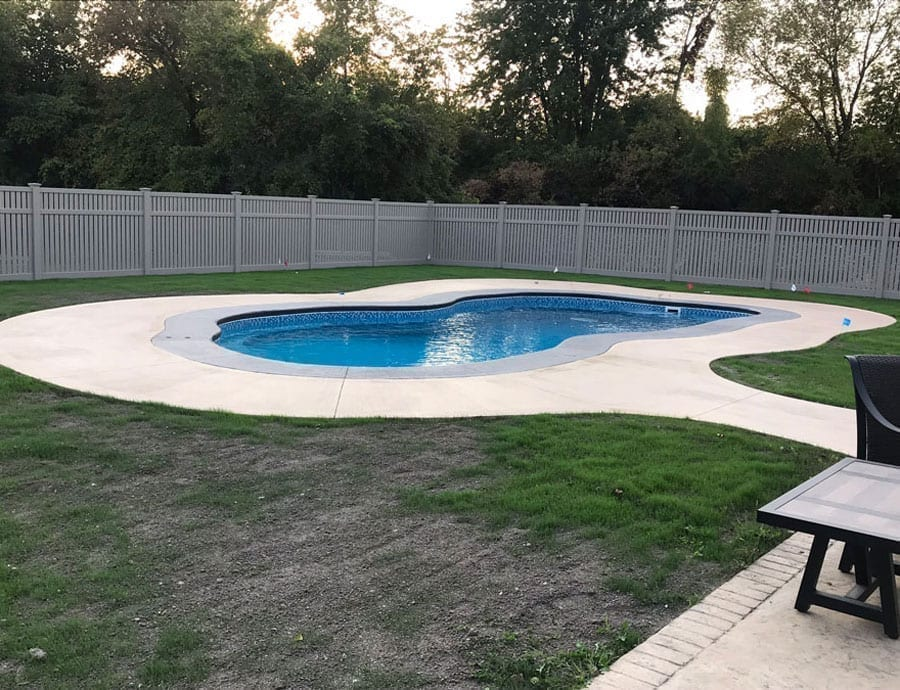 Faded Concrete Pool Deck Stain