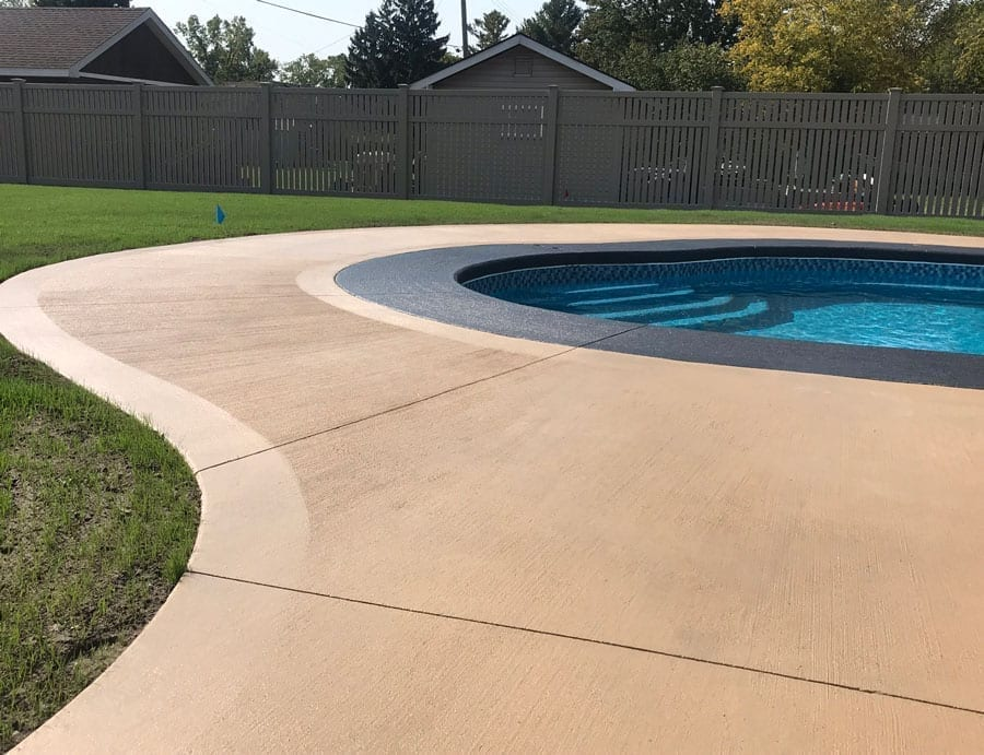 Pol deck colored with Tinted Concrete sealer