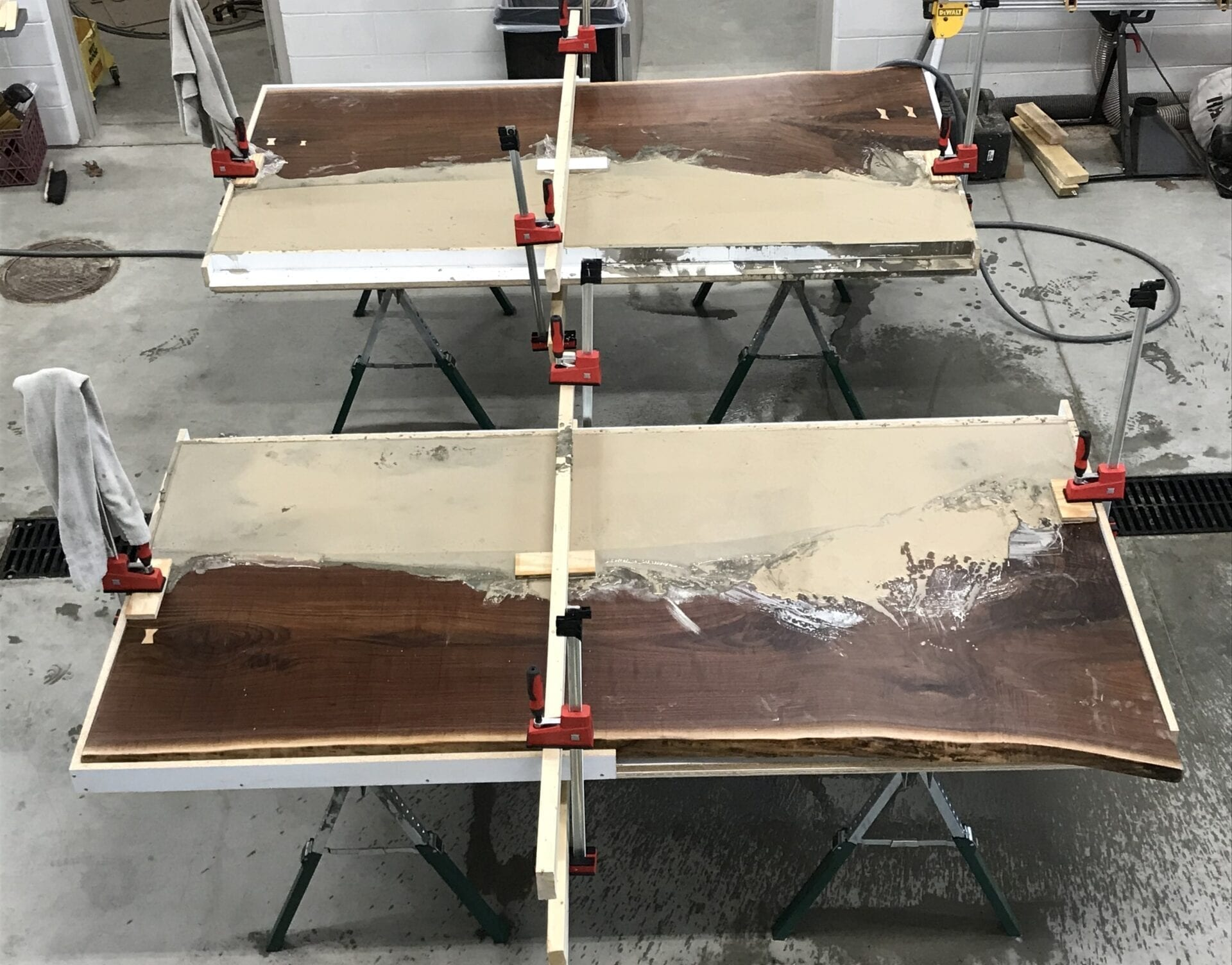 How to make concrete wood tables