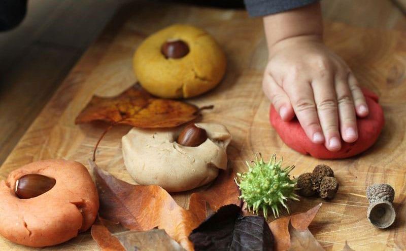 Home made pumpkin spice playdough