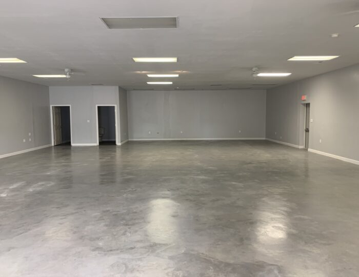Silver Gray Stained Concrete Floor