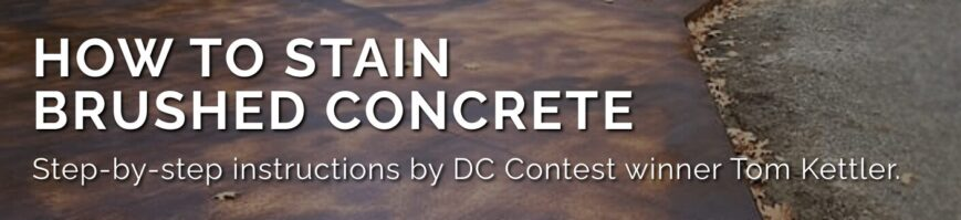 How to Stain Brushed Concrete - Header Image