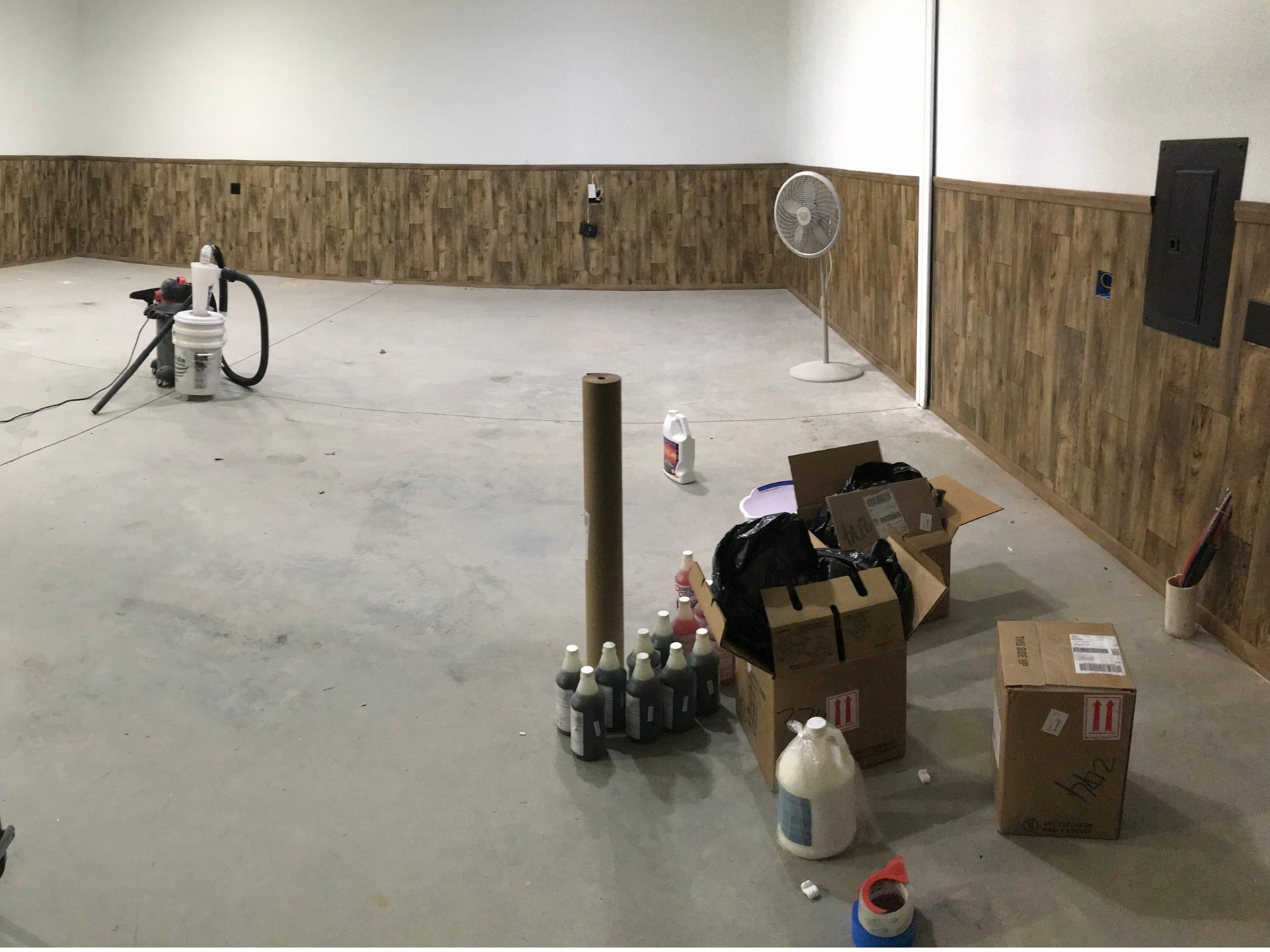 Surface preparation - garage man cave