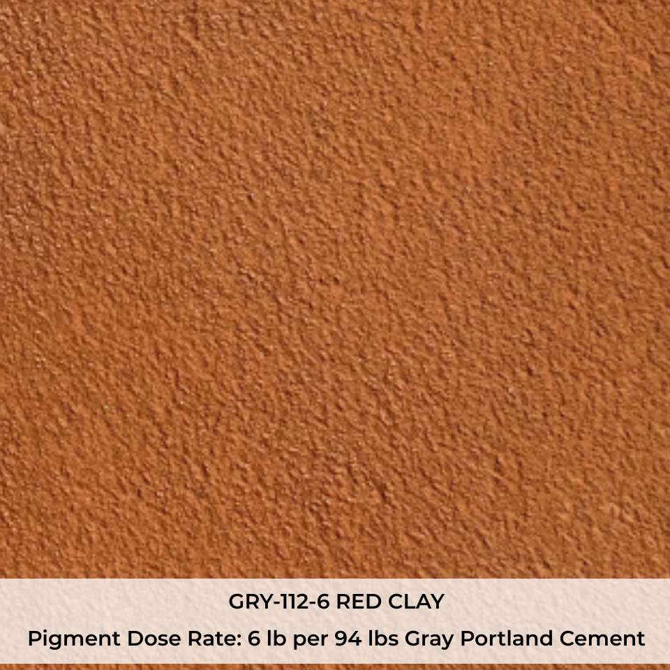 GRY-112-6 RED CLAY Pigment