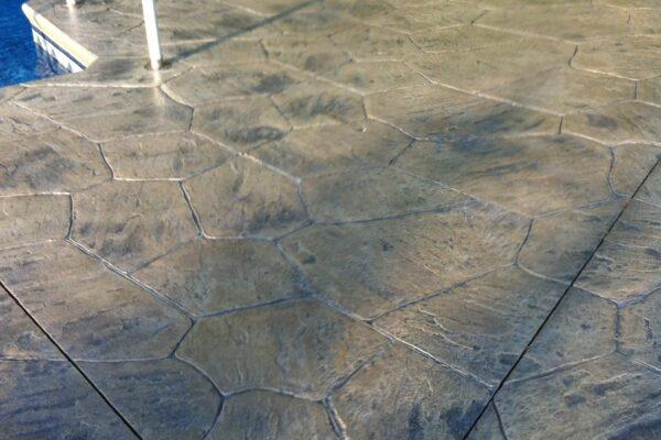 Restored Stamped Concrete Pool Deck
