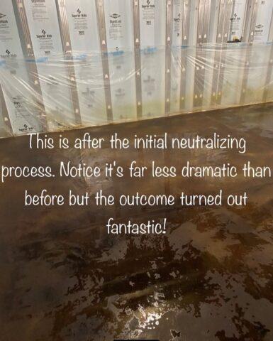 Neutralizing acid stains