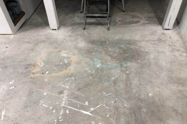 Concrete FLoor Not Ready for Staining