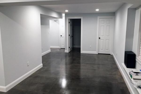 Basement Concrete Floor - Charcoal AcquaTint-