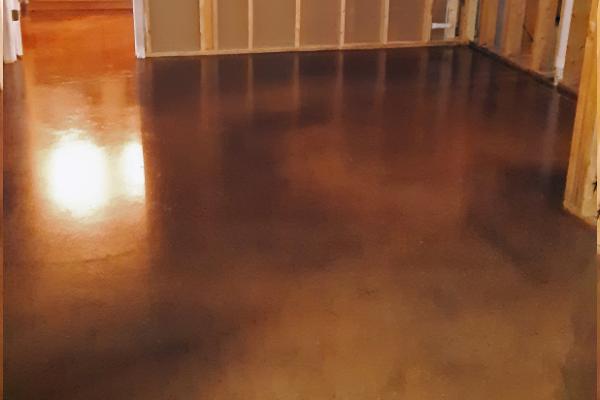 Basement Concrete Floor - Sepia, Aztec Brown, Malayan Buff Vibrance Dye
