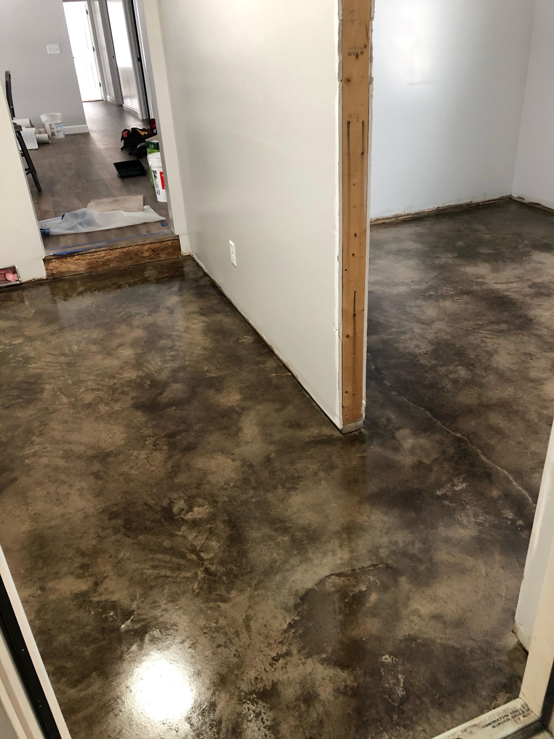 Black Acid Stained Concrete Floor