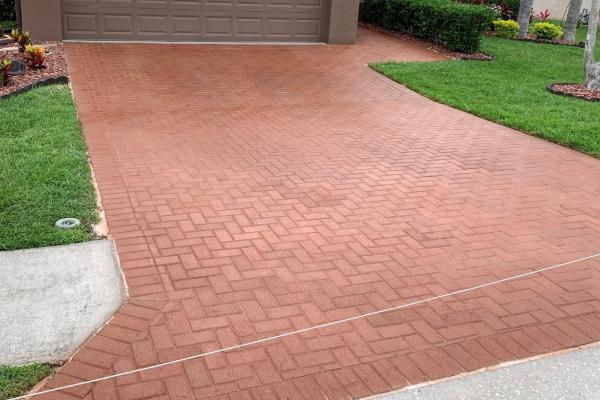 Driveway Concrete Pavers - EasyTint Russet-
