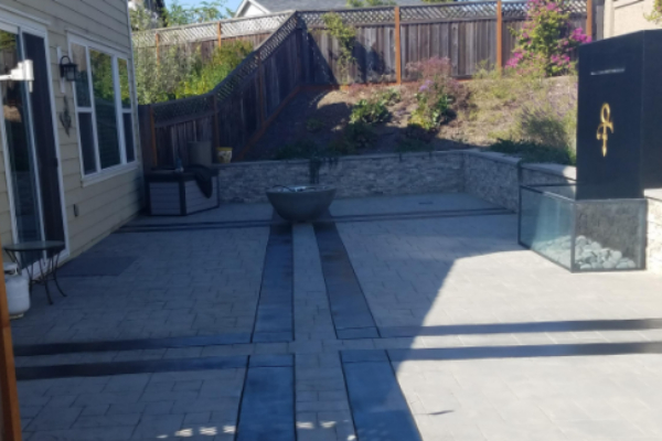 Patio Stamped Concrete - ColorWave Onyx Black Stain