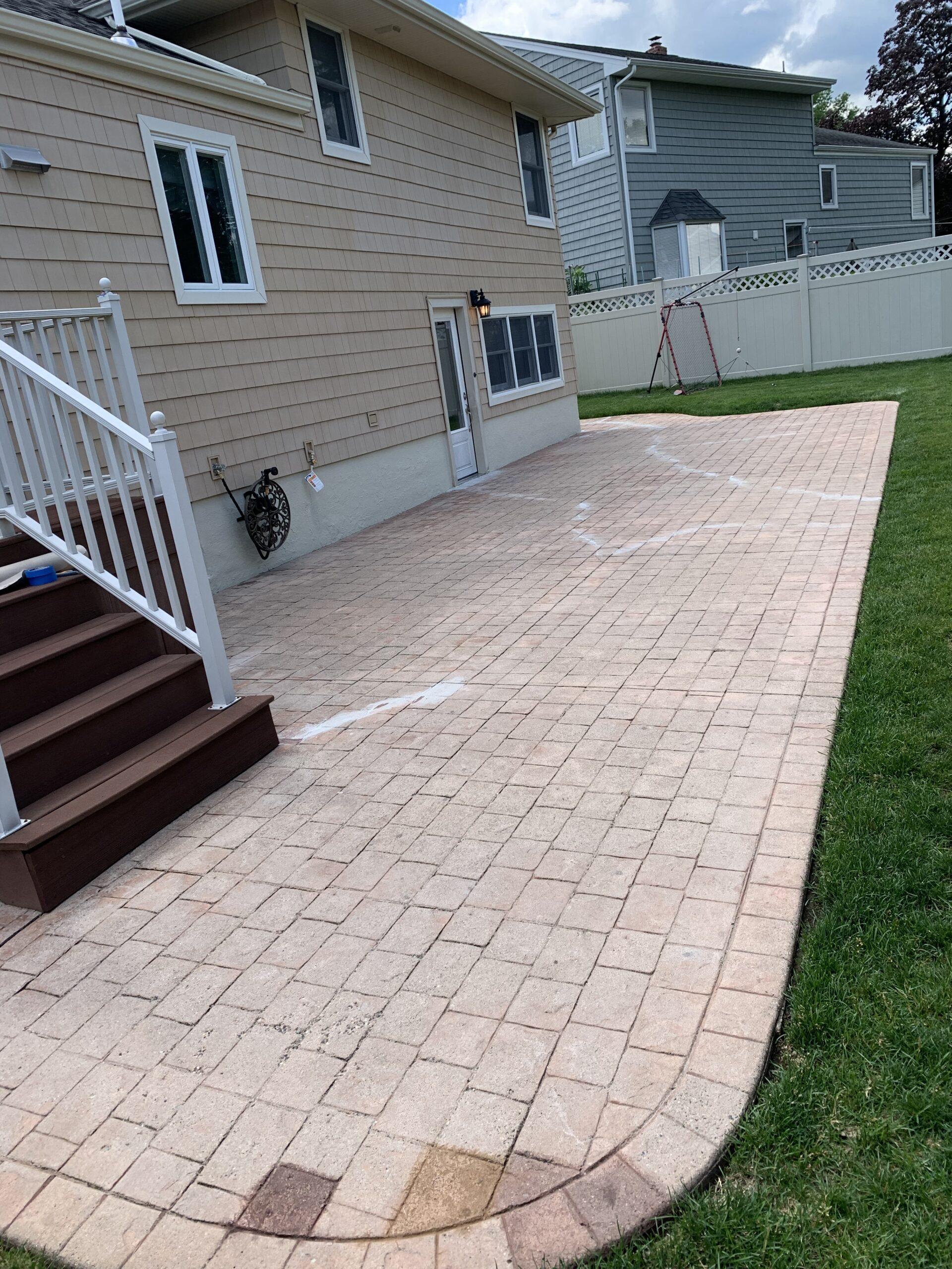 Neglected Concrete Patio
