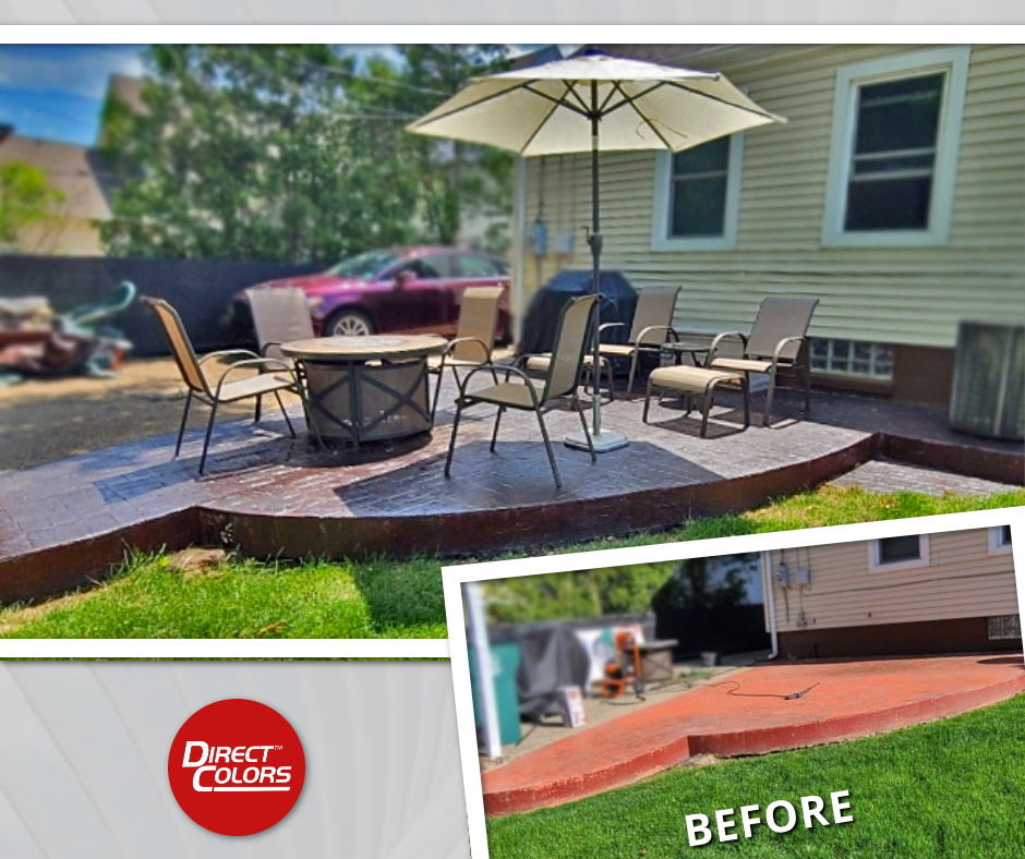 Design by colorant: How to Recolor Faded Stamped Concrete