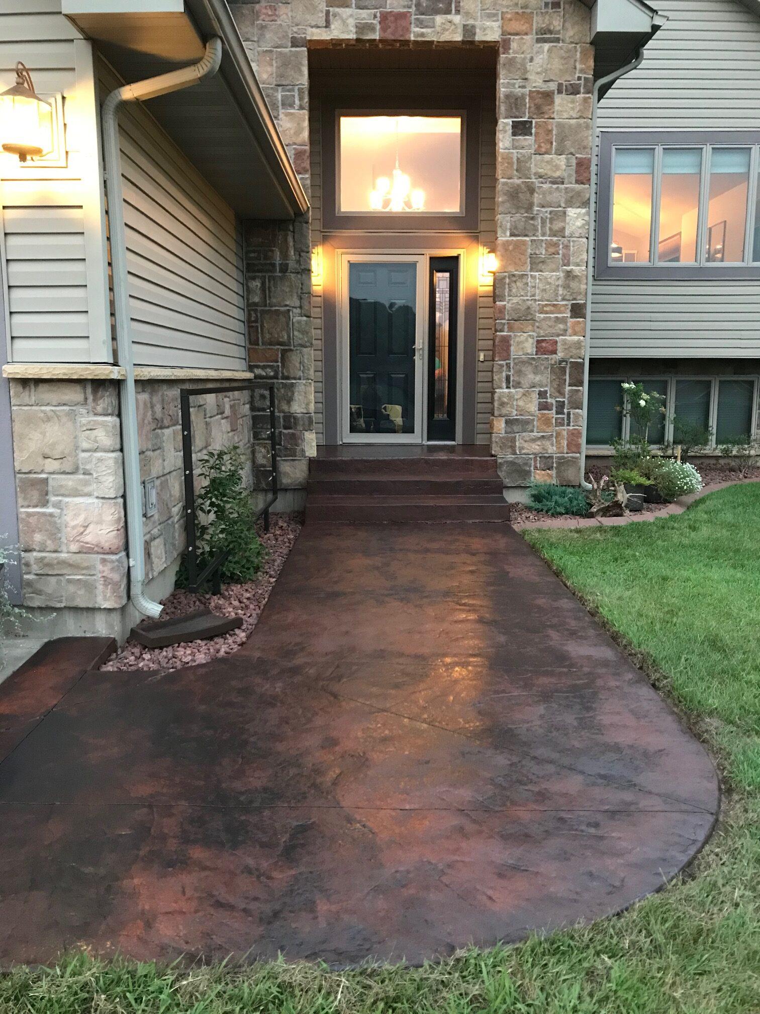 Color Corrected Concrete Walkway