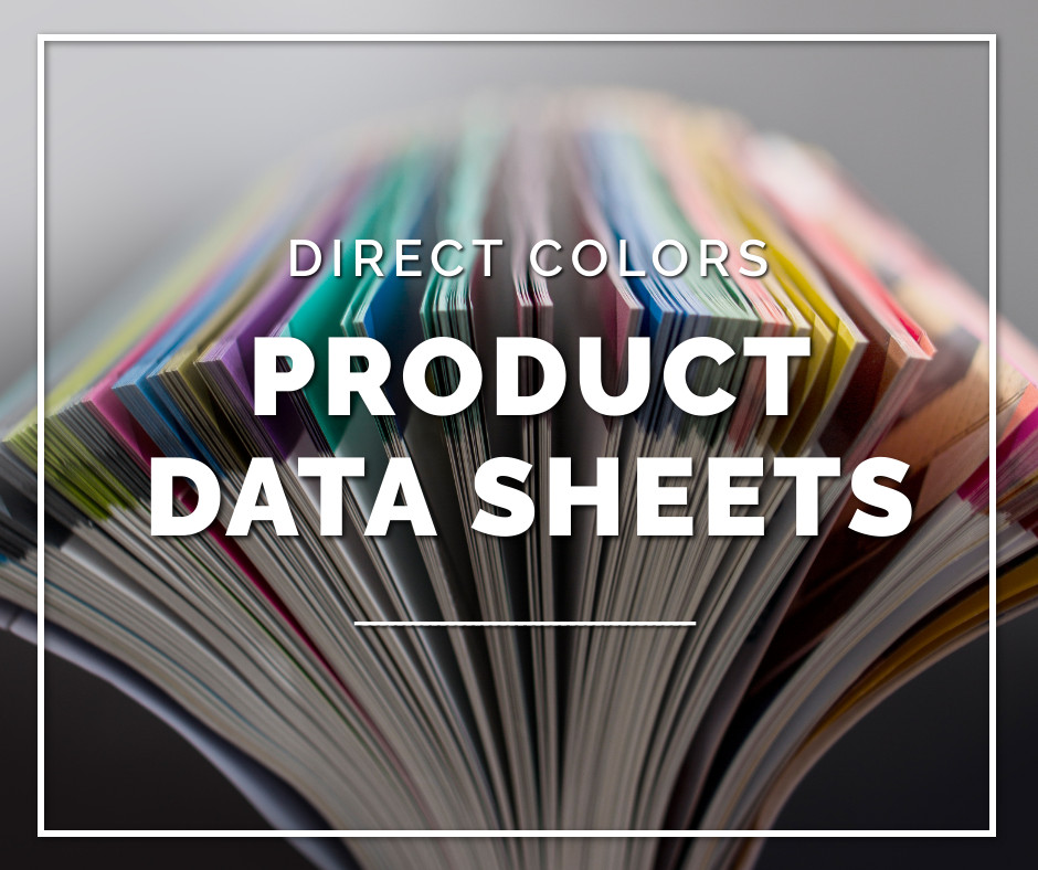 Direct color product data sheets