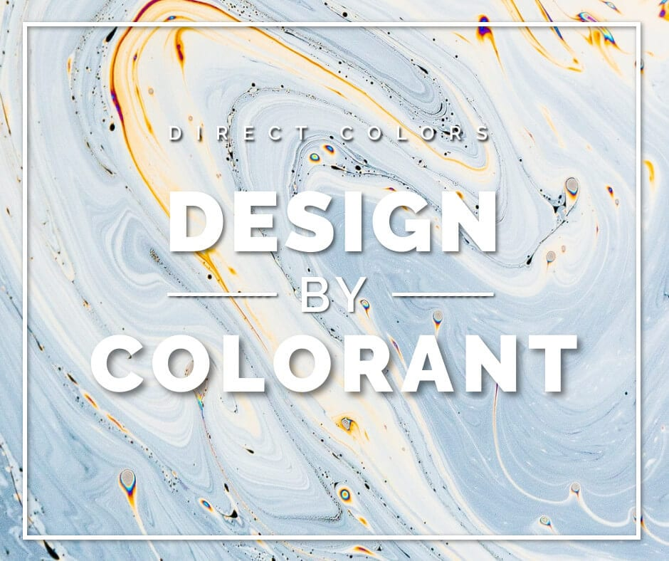 Direct color design by colorants